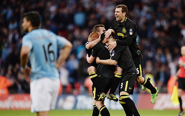 Wigan stun Man City in FA Cup