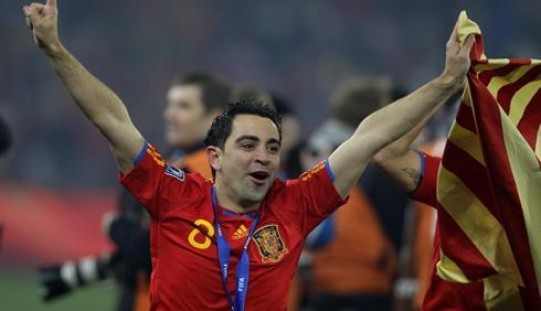 Xavi plays his last game for Barcelona today