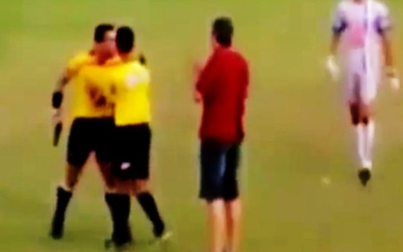 Watch: Soccer ref in Brazil pull a gun on players during an argument