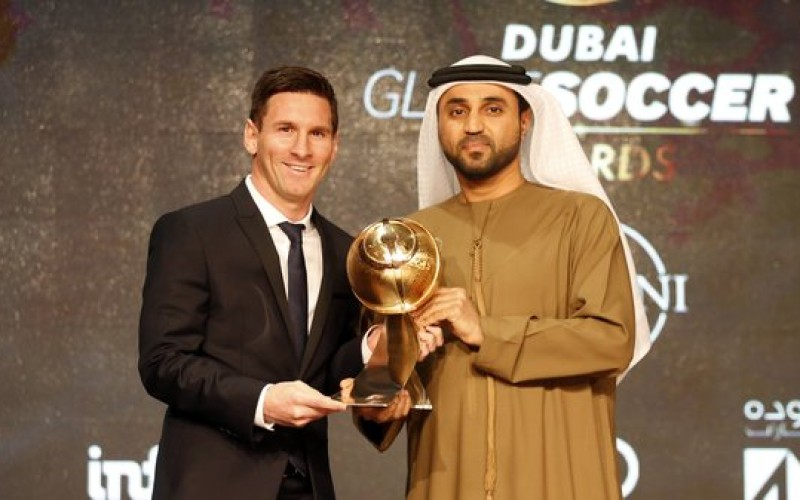 Messi named Best Player of the Year at Globe Soccer Awards