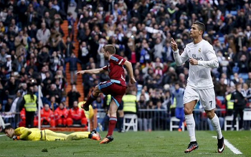 Ronaldo brace gives Real Madrid win over Real Sociedad