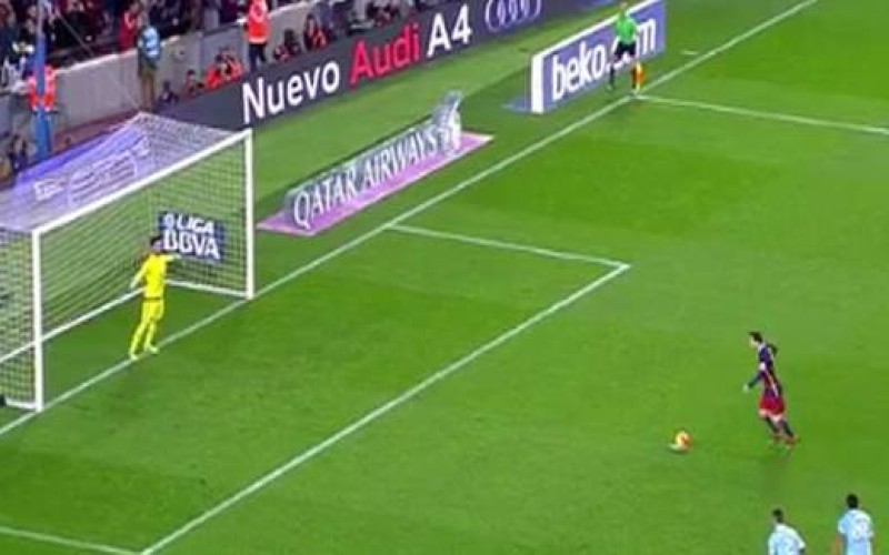Video: Messi and Suarez combine to score an outrageous penalty