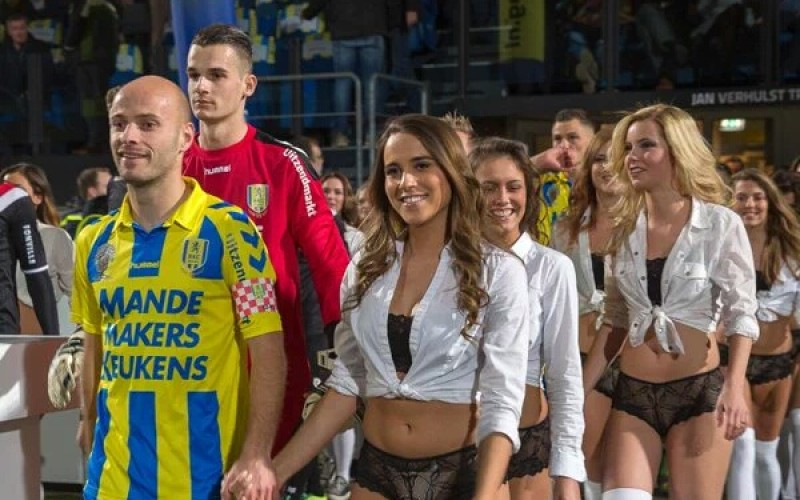 Dutch club replaces mascots with models for Valentine's Day