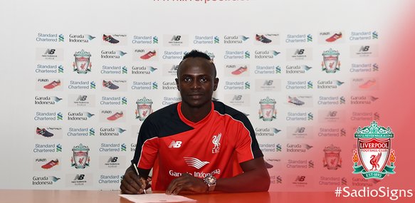 Liverpool confirm signing of Sadio Mane