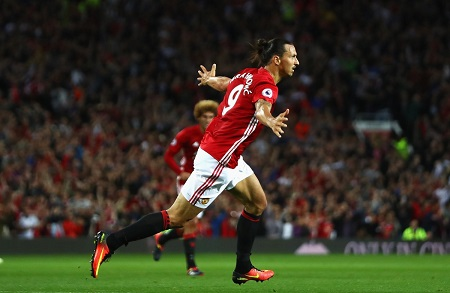 Ibrahimovic strikers twice in Man United win