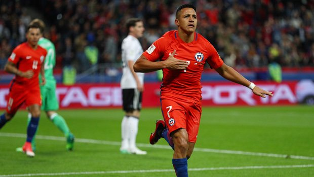 Confederations Cup: Sanchez breaks Chile record in Germany draw